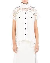 Twill guipure lace shirt medium 173087