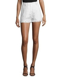Alexander ueen lace high rise shorts ivory medium 4948814