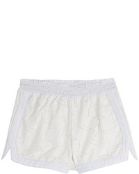 Cotton blend shorts with lace overlay medium 437785