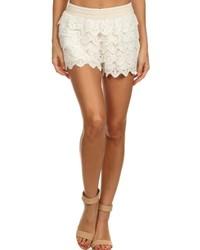 Hem Thread Lace Short Shorts