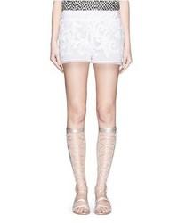 Lilaeugenie Macram Lace Shorts