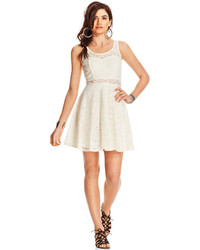 Lace illusion skater dress only at macys medium 232816