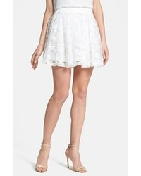 White Lace Skater Skirt