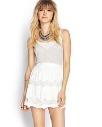 Forever 21 Contemporary Embroidered Lace Skirt