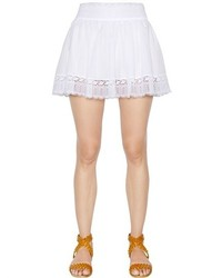 Cotton voile lace mini skirt medium 432383
