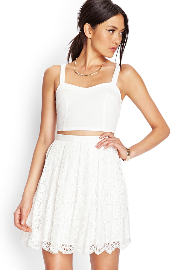 Forever 21 Floral Lace A Line Skirt | Where to buy & how to wear
