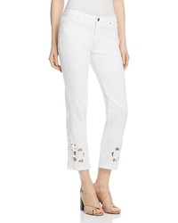 Kiana embellished hem jeans in white medium 3725523