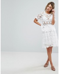Vila Cutwork Lace Skirt