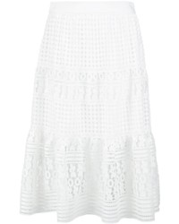 Diane von Furstenberg Layered Lace Skirt
