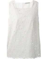 White Lace Sleeveless Top