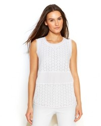 Calvin Klein Sleeveless Crochet Lace Top