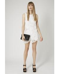 128bd3a82e93 Topshop Petite 3d Lace Shell Top, $68 | Topshop | Lookastic.com