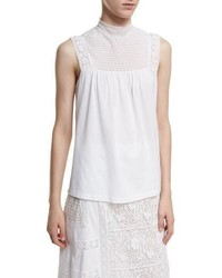 Piero sleeveless lace panel top medium 3995227