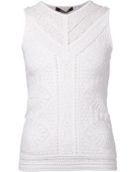 Roberto Cavalli Knit Lace Top