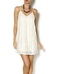 White Lace Tank Dress