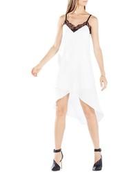 BCBGMAXAZRIA Astrella Asymmetric Draped Slip Dress
