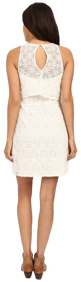 Cream Lace Tank Dress