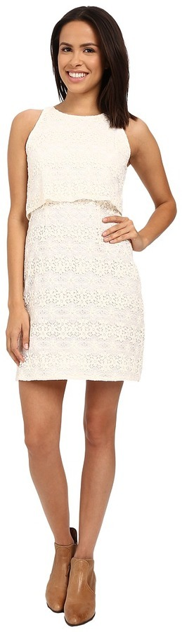 90 Stetson Cream Lace Tank Dress