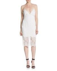 Esquire lace trimmed stripe dress medium 972203