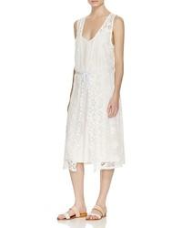 Ella Moss Lace Overlay Midi Dress