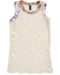 Maaji Girls The Grapeful Miles Floral Lace Cover Up Size 6 Ivory