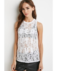 Forever 21 Beautiful Embroidered Lace Tank