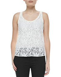 Theory Isaac Lace Sleeveless Tank Top