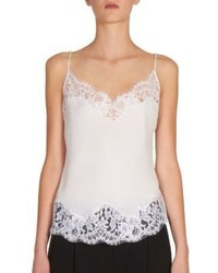 Givenchy Lace Trim Silk Camisole