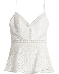 Zimmermann Meridian Broderie Anglaise Cotton Cami Top