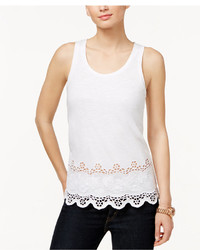 MICHAEL Michael Kors Michl Michl Kors Embroidered Lace Tank Top