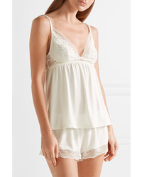 4747def68 ... Eberjey Noor Lace Trimmed Stretch Modal Jersey Camisole Ivory ...