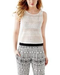 GUESS Rhiannon Crochet Lace Tank