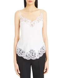 Givenchy Scalloped Lace Trim Silk Camisole