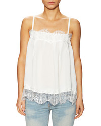 Lucca Couture Charmeuse Lace Trim Camisole