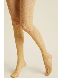 Modcloth sheer me out tights in dijon medium 5422680