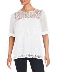 Calvin Klein Mixed Media Lace Tunic