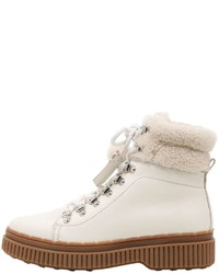 White lace up flat boots original 11408978
