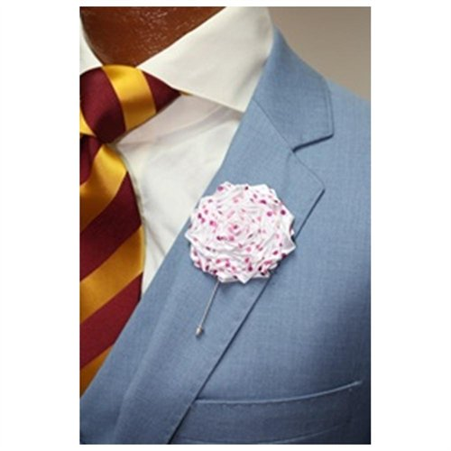 Dapper world white with pink and magenta polka dots flower lapel pin dapper world white with pink and magenta polka dots flower lapel pin mightylinksfo