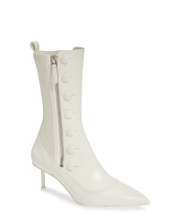 Alexander McQueen Button Pointy Toe Boot