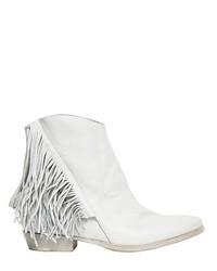 Cinzia Araia 60mm Leather Fringe Ankle Boots