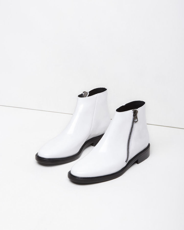 2182bb28bc175 ... White Leather Ankle Boots Acne Studios Dally Ankle Boot