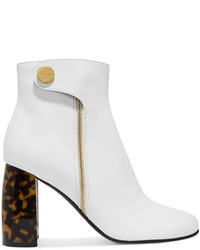 Stella McCartney Faux Leather Ankle Boots White