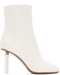 Vetements Ivory Leather Ankle Boots