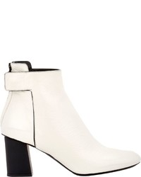Women's White Leather Ankle Boots by Proenza Schouler | Women's ...