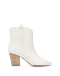 Women's White Ankle Boots by Laurence