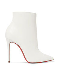 9868f12539d Women's White Leather Ankle Boots by Christian Louboutin | Women's ...