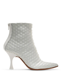 MM6 MAISON MARGIELA White Bubble Wrap Heeled Boots