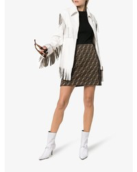 Dorateymur White Groupie 65 Leather Knot Ankle Boots