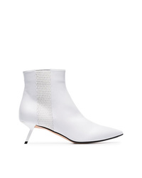 Alchimia Di Ballin White Libra 55 Mesh Detail Leather Boots