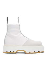 MM6 MAISON MARGIELA White Pull On Ankle Boots